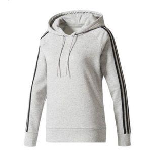 NWT Adidas fleece hoodie 3 Stripes grey-black XS